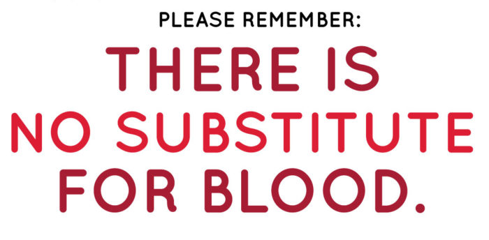 There is no substitute for blood graphic