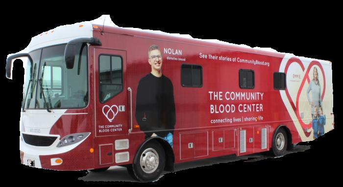pop up blood center