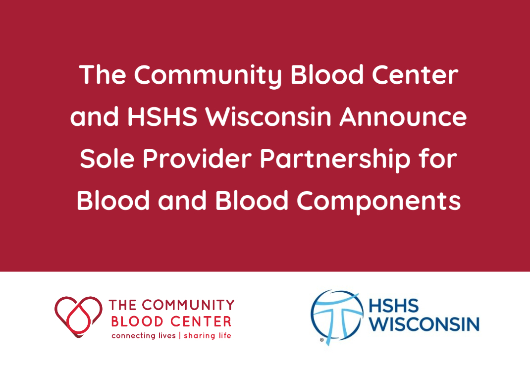 HHS and The Community Blood Center