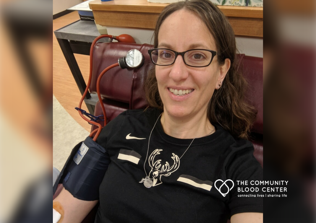 For Amy, a regular blood donor, her experience came full circle when both she, and later her mom, relied on blood transfusions.